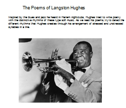 The Poems of Langston Hughes