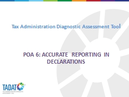 Tax Administration Diagnostic Assessment Too
