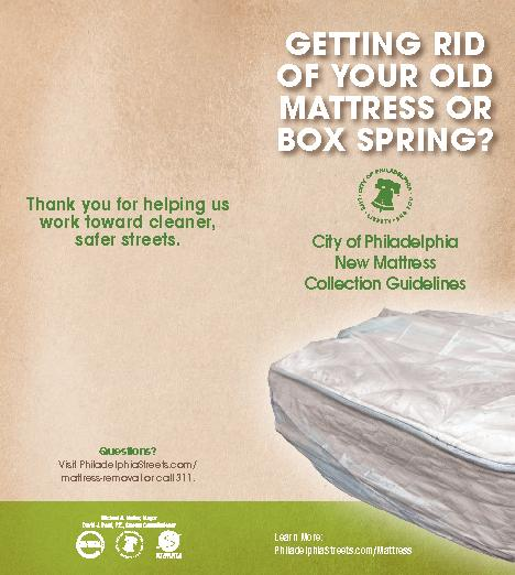GETTING RID OF YOUR OLD MATTRESS OR BOX SPRING?