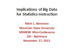Implications of Big Data PowerPoint PPT Presentation
