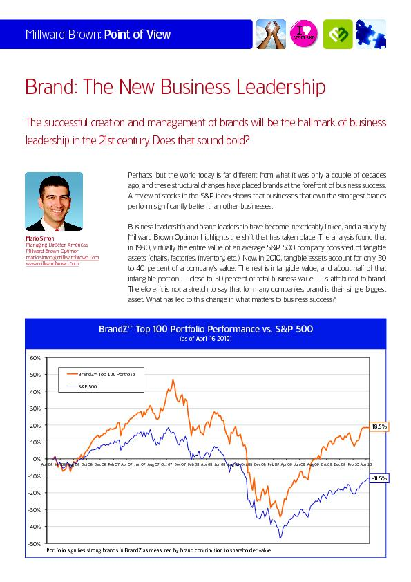 Millward Brown:Point of View Brand: The New Business Leadership ...