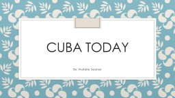 Cuba today PowerPoint PPT Presentation
