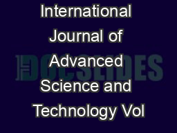 International Journal of Advanced Science and Technology Vol