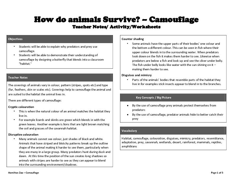 How do animals Survive?