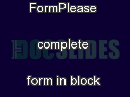 NVQ CountersigningReport FormPlease complete form in block letters ...