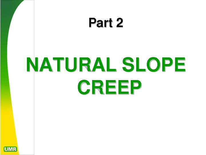 NATURAL SLOPE PowerPoint PPT Presentation