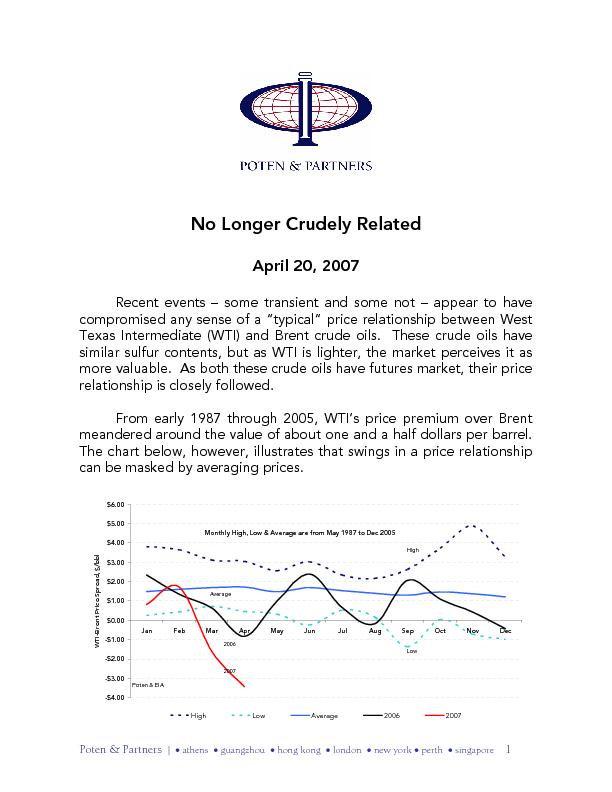 2007Monthly High, Low & Average are from May 1987 to Dec 2005Poten & E PDF document - DocSlides