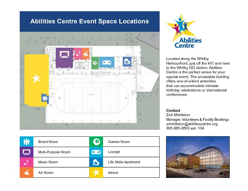 Abilities Centre Event Space Locations PowerPoint PPT Presentation