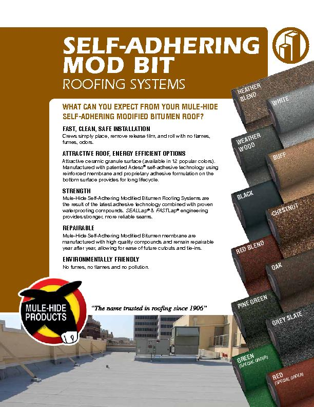 SELF-ADHERING MOD BIT  ROOFING SYSTEMS