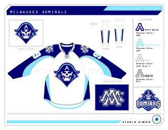 OFFICIAL ROAD UNIFORMMILWAUKEE ADMIRALS