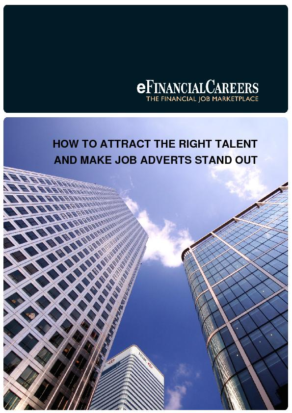 HOW TO ATTRACT THE RIGHT TALENT AND MAKE JOB ADVERTS STAND OUT  ...