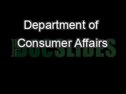 Department of consumer affairs pdf document docslides - Office of the consumer protection board ...