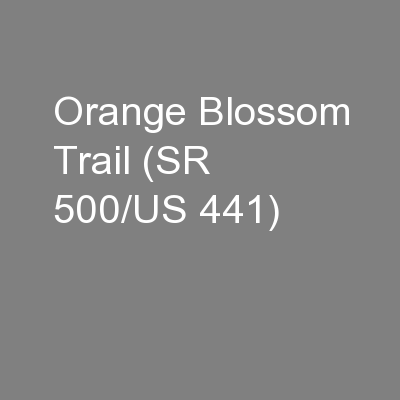 Orange Blossom Trail (SR 500/US 441)
