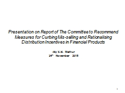 1 1 Presentation on Report of The Committee to Recommend Me