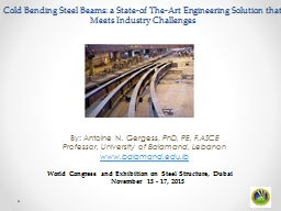 Cold Bending Steel Beams: a State-of The-Art Engineering So