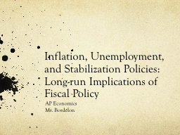 Inflation, Unemployment, and Stabilization Policies:  Long-