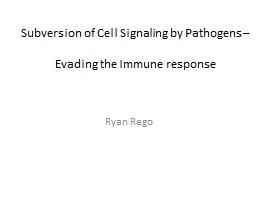 Subversion of Cell Signaling by Pathogens –