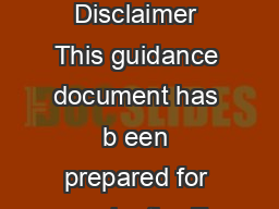 GUIDANCE NOTE ON QUATOR RINCIPLES IMPLEMENTATION REPORTING Disclaimer This guidance document has b een prepared for use by the E quator rinciples EP Association Membership