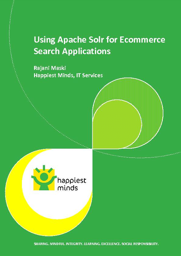 Apache Solr for Ecommerce