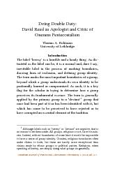 Canadian Journal of Pentecostal-Charismatic Christianity 1 (2010) 86-1