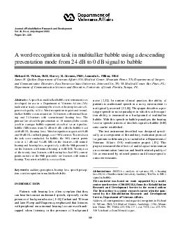 Journal of Rehabilitation Research and Development Vol
