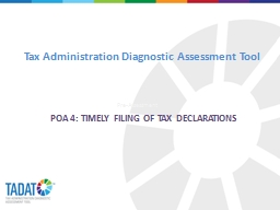 Tax Administration Diagnostic Assessment Tool