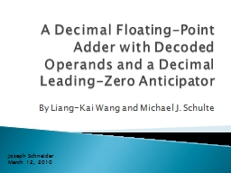 A Decimal Floating-Point Adder with Decoded Operands and a