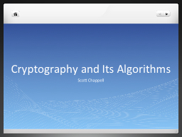Cryptography and Its