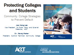 Protecting Colleges and Students