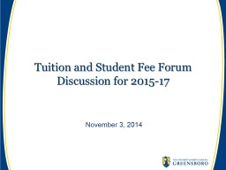 Tuition and Student Fee