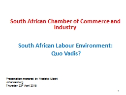 South African Chamber of Commerce and Industry PowerPoint Presentation, PPT - DocSlides