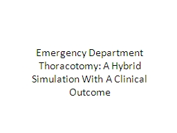 Emergency Department PowerPoint PPT Presentation