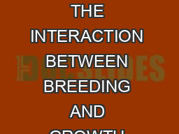 LIMNOLOGY AND OCEANOGRAPHY April  VOLUME VI NUMBER  THE INTERACTION BETWEEN BREEDING AND GROWTH RATE IN THE BARNACLE ELMINIUS MODESTUS DARWIN D