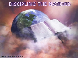 DISCIPLING THE NATIONS PowerPoint PPT Presentation