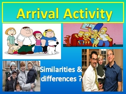 Arrival Activity
