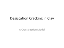Desiccation Cracking in Clay