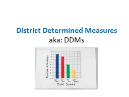 District Determined Measures PowerPoint PPT Presentation