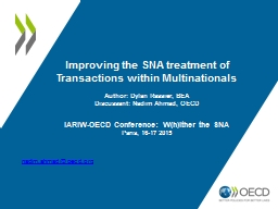 Improving the SNA treatment of Transactions within Multi