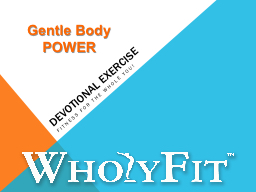 DEVOTIONAL EXERCISE PowerPoint PPT Presentation