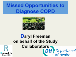 Missed Opportunities to Diagnose COPD