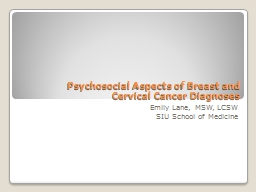 Psychosocial Aspects of Breast and
