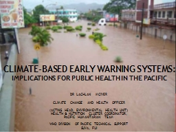 Climate-based early warning systems: