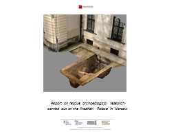 Report on rescue archaeological research