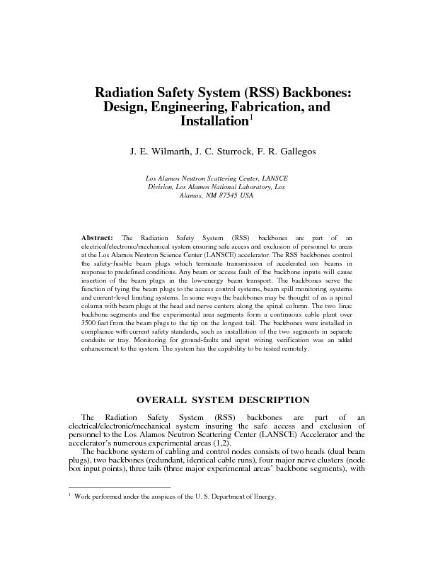 Design, Engineering, Fabrication, and The Radiation Safety part of ane