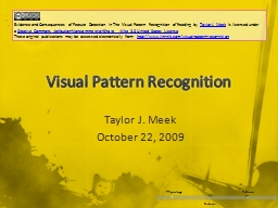 Visual Pattern Recognition PowerPoint PPT Presentation