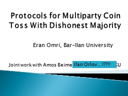 Protocols for Multiparty Coin Toss With Dishonest Majority