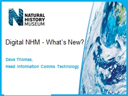 Digital NHM - What's New?