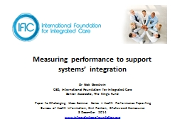 Measuring performance to support
