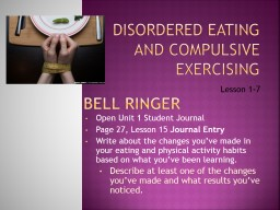 Disordered PowerPoint PPT Presentation