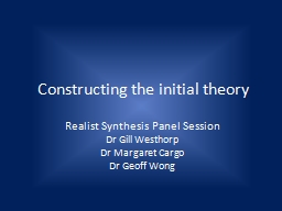 Constructing the initial theory